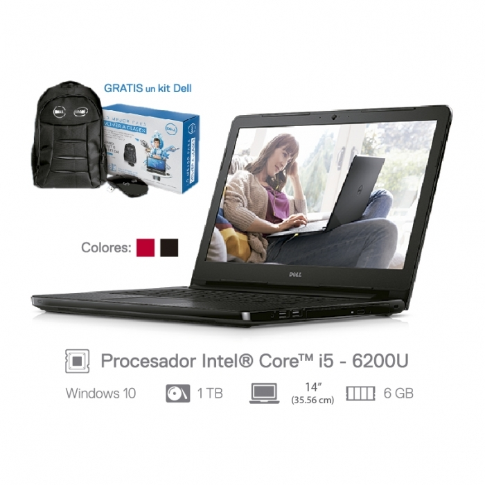 DELL LAPTOP INSPIRON 14 SERIE 3000 13459-i56ITBW10S