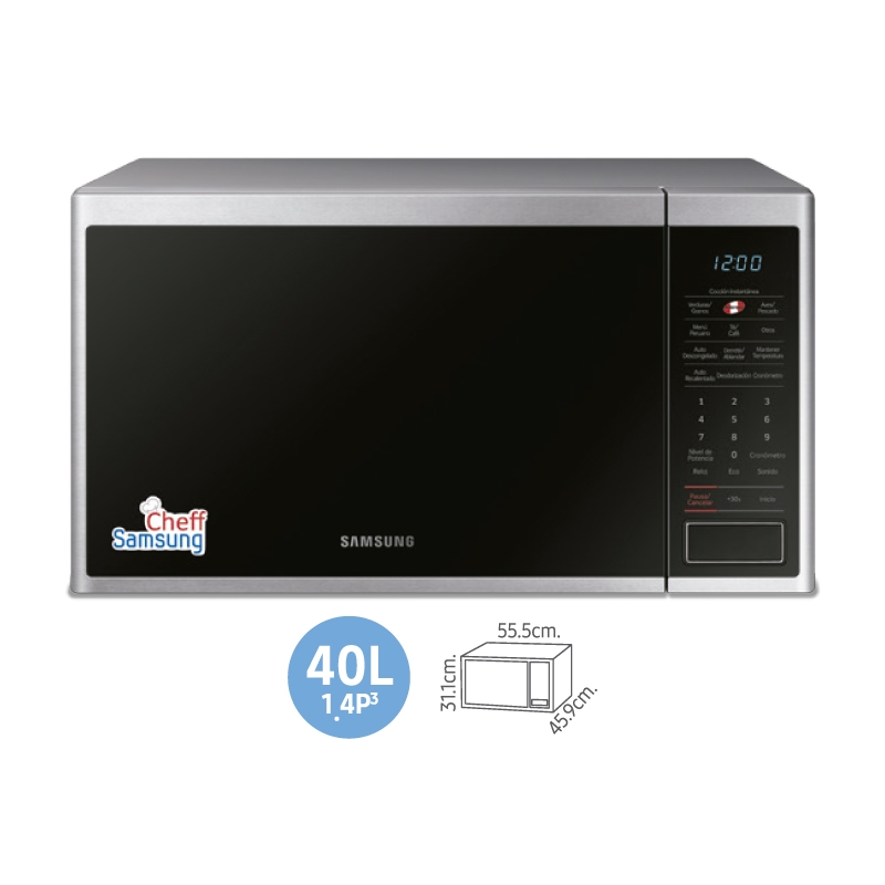 SAMSUNG HORNO MICROONDAS MG40J5133AT PE