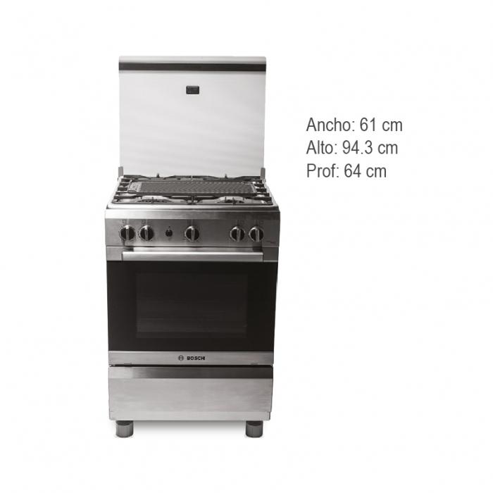 BOSCH COCINA A GAS PRO 445 INOX