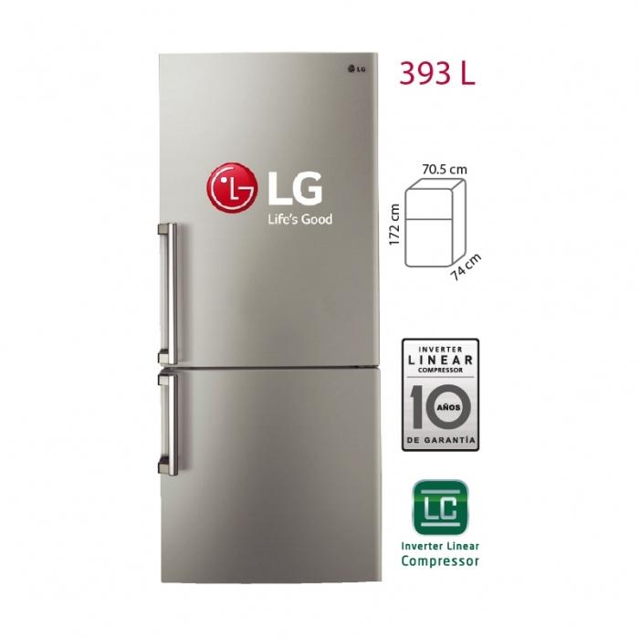 LG REFRIGERADORA 393L GB40BVN