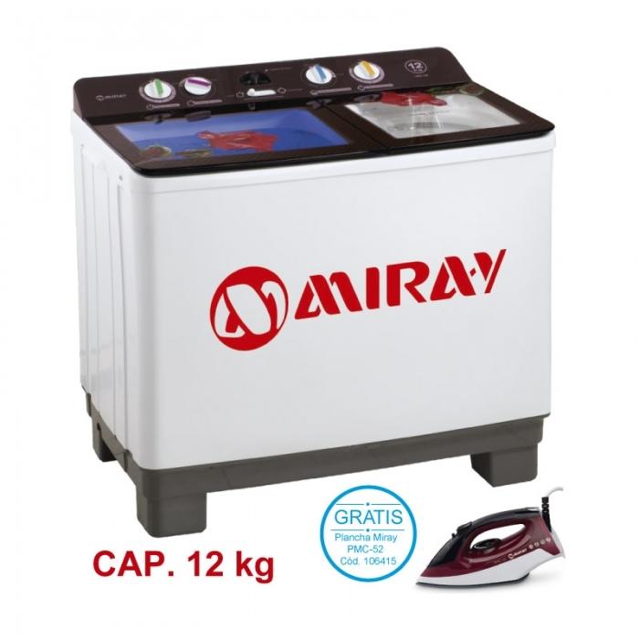 MIRAY LAVADORA SEMI-AUTOMÁTICA LMS-126 12 KG