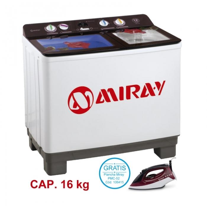 MIRAY LAVADORA SEMI-AUTOMÁTICA LMS-156 16 KG