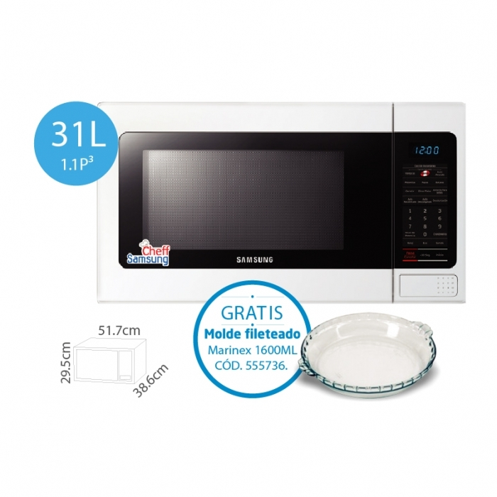 SAMSUNG HORNO MICROONDA AME1114TW/XPE