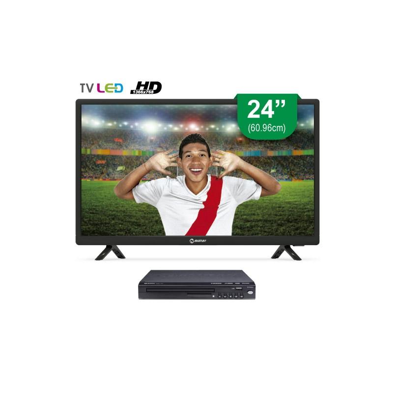 MIRAY TELEVISOR HD LEDM 2406IS + REPRODUCTOR DVD DVM L125