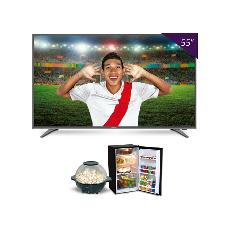 MIRAY TV SMART 4K LEDM4K 553NIP + FRIOBAR RM 108 + POCORNERA POPM 14