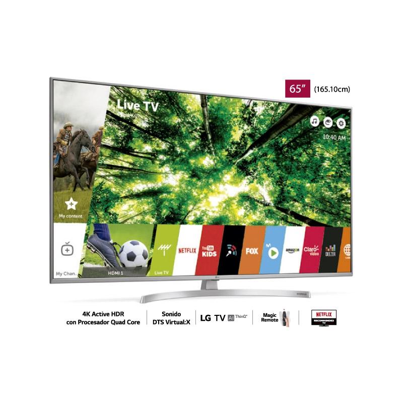 "LG TELEVISOR UHD 4K AI THINQ UK7500 65"""