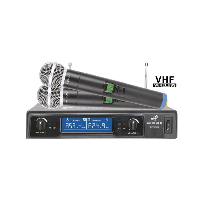 BATBLACK MICROFONO INALAMBRICO VHF BT V67R
