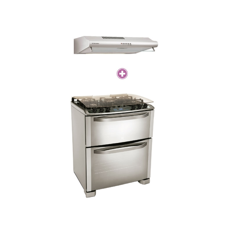 ELECTROLUX CAMPANA EXTRACTORA EJSE302TBJS + COCINA A GAS 76GDX
