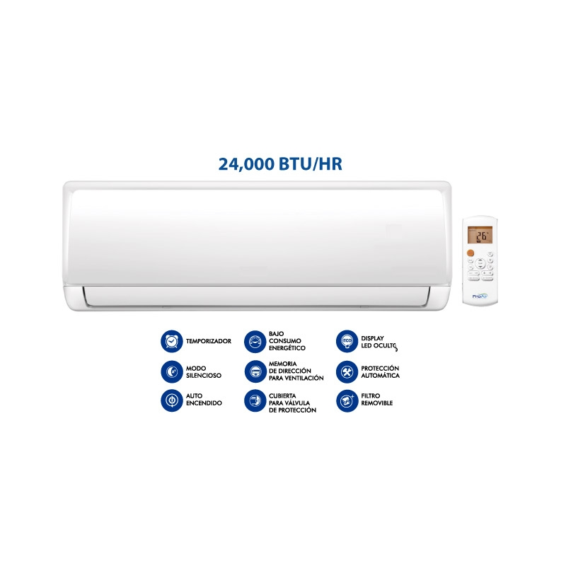 PROAIR AIRE ACONDICIONADO MINI PARED 24 000 BTU HR