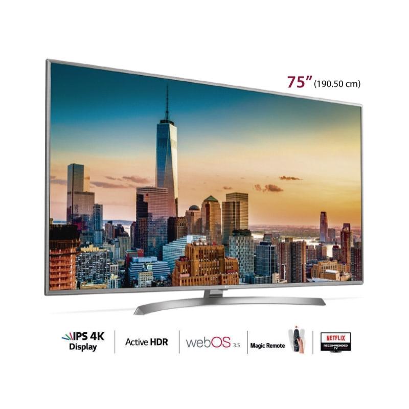 "LG TELEVISOR UHD 4K 75UJ6580 75"""