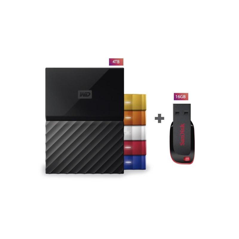 WESTERN DIGITAL DISCO DURO WDBYT0040B 4TB + USB CRUZAR BLADE 16 GB