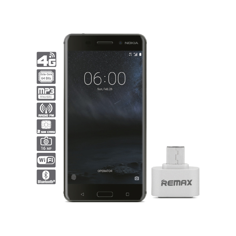 NOKIA SMARTPHONE 6 + ADAPTADOR MICRO USB RA OTG