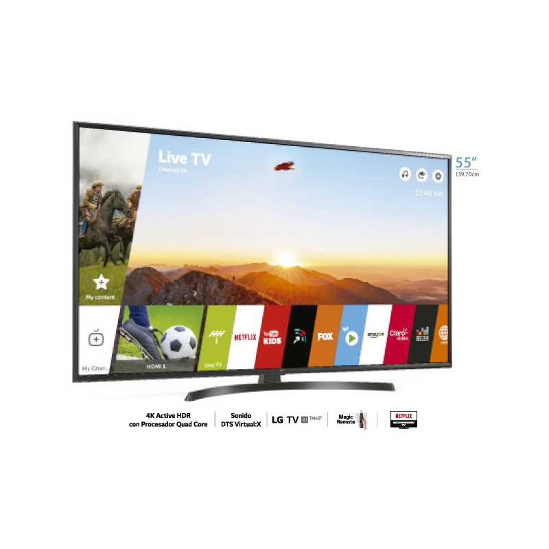 "LG TELEVISOR UHD 4K AI THINQ UK6350 50"""