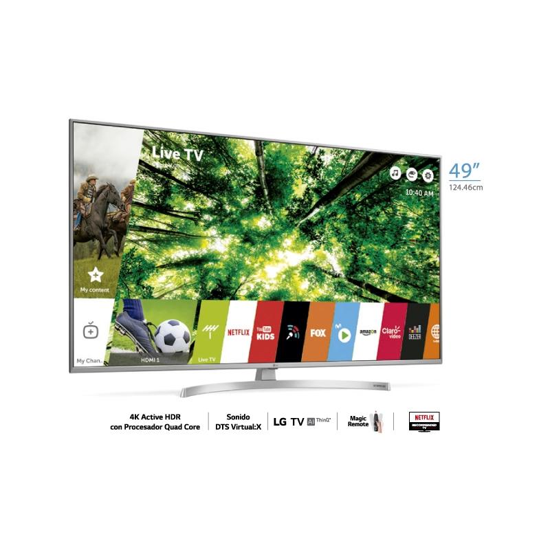 "LG TELEVISOR UHD 4K AI THINQ UK7500 49"""