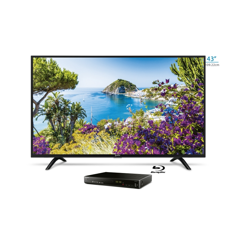 MIRAY TELEVISOR LED FHD LEDM 43IS +  BLURAY BLM BD311