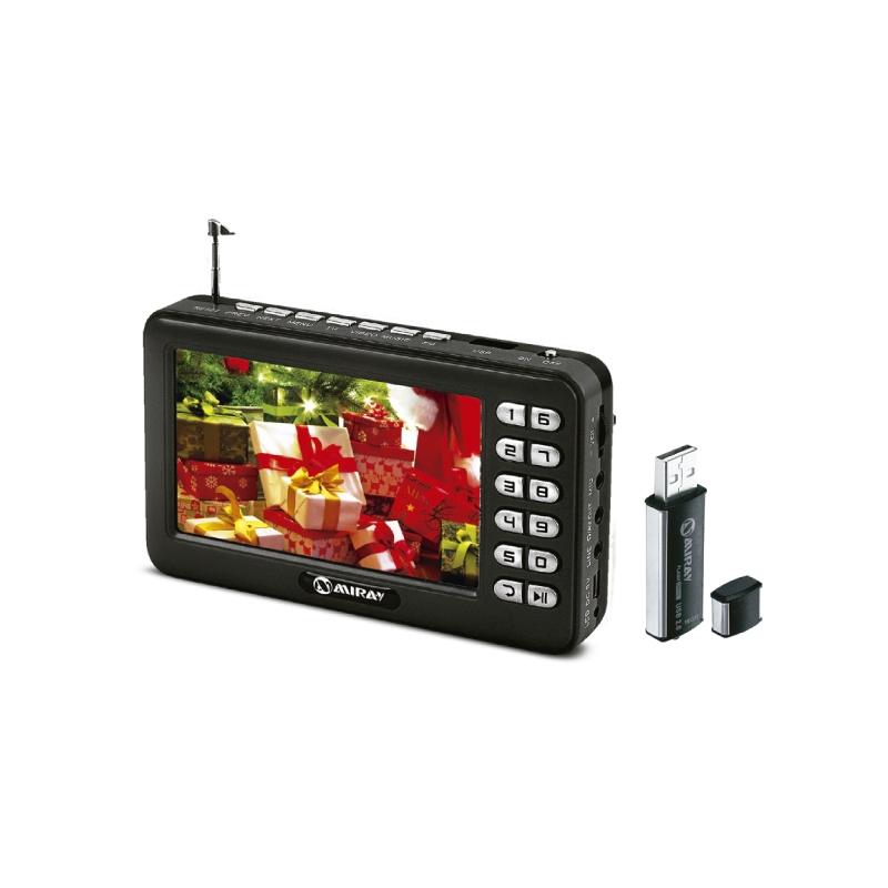 MIRAY TELEVISOR DIGITAL PORTATIL TVPM 76D + MEMORIA USB HUM 16GB