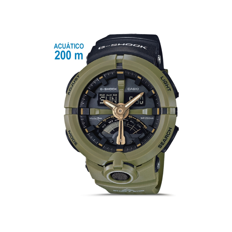 eaec508b1577 Casio Reloj Pulsera Acuatico Ga 500p 3adr