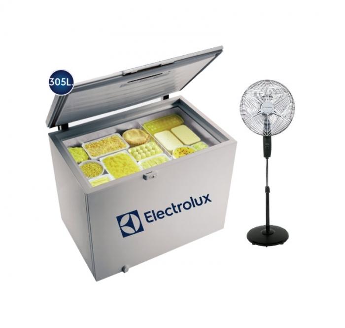 ELECTROLUX CONGELADORA H320 + VENTILADOR SFV10