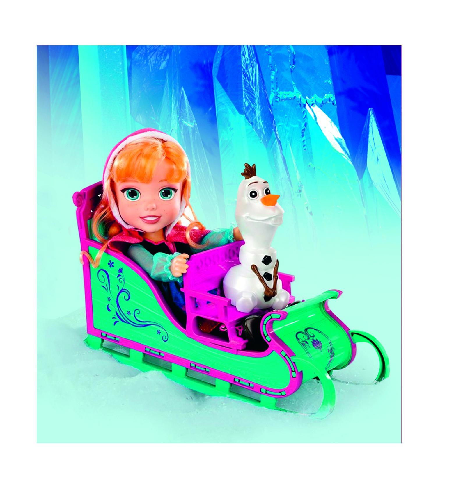 ANNA, OLAF EN TRINEO